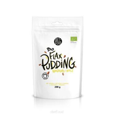 Diet Food Bio Flax Pudding Apple and Banana