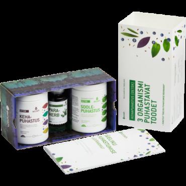 TERVIKLIK KEHAPUHASTUSKUUR (Detox) – 3 organismi puhastavat toodet + käsiraamat