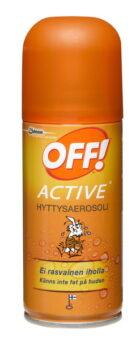 Ulkoiluun ja urheiluun. Hyttysaerosoli aktiiviselle liikkujalle.